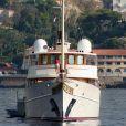 "Le ""Vajoliroja"" ancienne propriété de Johnny Depp, un yacht de 47,55 metres en 2014."