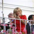 La Première dame Brigitte Macron (Trogneux) visite la ville de Salzbourg, Autriche, le 23 août 2017.