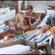 Mia Frye et Massimo Gargia en vacances à St-Barthélemy