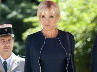 Brigitte Macron chic en robe sombre pour une rencontre au sommet en Roumanie