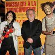 """Tobe Hooper, le réalisateur du film culte """"Massacre à la tronçonneuse"""" célèbre les 40 ans de son film au Grand Rex à Paris le 23 septembre 2014."""