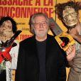 """Tobe Hooper, le réalisateur du film """"Massacre à la tronçonneuse"""" célèbre les 40 ans de son film au Grand Rex à Paris le 23 septembre 2014."""