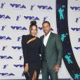 Ludacris et sa femme Eudoxie Mbouguiengue aux MTV Video Music Awards 2017, au Forum. Inglewood, le 27 août 2017.