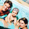 Benjamin Castaldi, son fils Julien et sa première femme il y a 20 ans. Photo postée sur Instagram, le 28 août 2017.