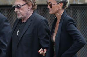 Obsèques de Mireille Darc : Johnny Hallyday et Laeticia, unis devant Carla Bruni