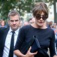 Carla Bruni Sarkozy - Obsèques de Mireille Darc en l'église Saint-Sulpice à Paris. Le 1er septembre 2017