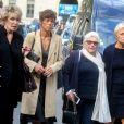 Nicole Sonneville, Anne Le Nen, Line Renaud et Muriel Robin - Arrivées - Obsèques de Mireille Darc en l'église Saint-Sulpice à Paris, France, le 1er septembre 2017.