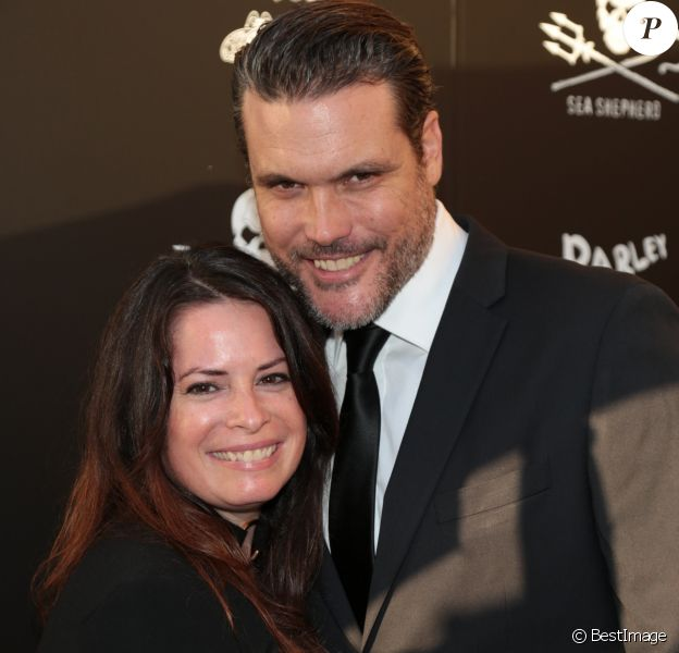 Holly Marie Combs et son fiancé Mike à la soirée de gala du 40e anniversaire de Sea Shepherd à Los Angeles, le 10 juin 2017.