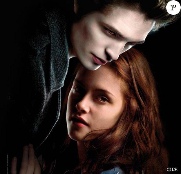 "Kristen Stewart et Robert Pattinson sur l'affiche de ""Twilight"""