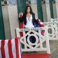 Michelle Rodríguez à l'inauguration de sa cabine sur les planches lors du 43e Festival du Cinéma Américain de Deauville. Le 8 septembre 2017 © Denis Guignebourg / Bestimage
