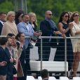 Meghan Markle supportrice du prince Harry lors d'un tournoi de polo à Ascot le 7 mai 2017, seul événement public où ils ont été aperçus ensemble.