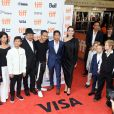 "Sareum Srey Moch, Loung Ung, Kimhak Mun, Rithy Panh, Maddox Jolie-Pitt, Pax Jolie-Pitt et Angelina Jolie, Vivienne Jolie-Pitt, Knox Jolie-Pitt, Shiloh Jolie-Pitt, Zahara Jolie-Pitt lors de la première de ""First they killed my father"" de Angelina Jolie au Festival International du film de Toronto (TIFF) le 11 septembre 2017. © Brent Perniac/AdMedia via ZUMA Wire/Bestimage"