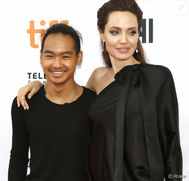 Maddox Jolie-Pitt et Angelina Jolie à la première de 'First They Killed My Father: A Daughter of Cambodia Remembers' au Toronto International Film Festival le 11 septembre 2017.