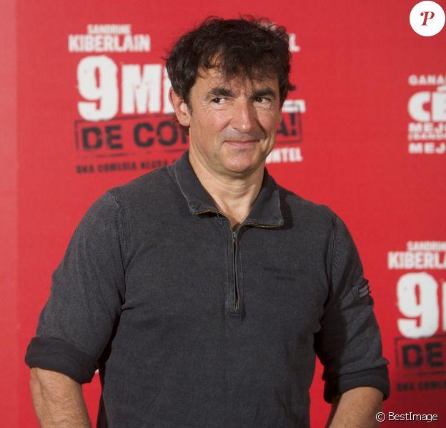 "Albert Dupontel lors du photocall du film ""9 mois ferme"" à Madrid, le 8 avril 2014."