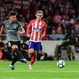 Antoine Griezmann, avec son club de Atletico de Madrid, premier buteur au tout nouveau stade Wanda Metropolitano lors du match contre Malaga à Madrid le 16 septembre 2017.