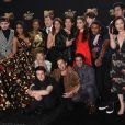 Toute l'équipe de '13 Reasons Why' à la conférence de presse des MTV Movie And TV Awards 2017 au The Shrine Auditorium à Los Angeles, le 7 mai 2017