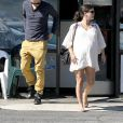 Rachel Bilson, enceinte, et Hayden Christensen à Los Angeles, le 7 octobre 2014.