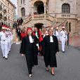 Image de l'audience solennelle de rentrée des cours et tribunaux de Monaco en présence du prince Albert II le 2 octobre 2017. © Bruno Bebert / Bestimage