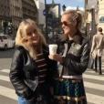 Pause café pour Laeticia Hallyday et Marie Poniatowski, Instagram septembre 2017.