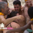 "Equipe jaune - ""Koh-Lanta Fidji"" sur TF1, le 22 septembre 2017."