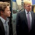 """Capture de l'enregistrement vidéo pour l'émission Access Hollywood en 2005. A cette époque, Billy Bush avait interviewé Donald Trump. Dans une séquence tristement célèbre, l'homme d'affaire s'était vanté de pouvoir attraper les femmes """"par la c**tte""""."""
