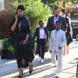 Le femme de Usher Grace Miguel quitte son hôtel avec ses enfants Naviyd Ely et Usher Raymond V à New York le 15 juin 2017