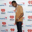 Travis Scott, compagnon de Kylie Jenner, lors du iHeartRadio Music Festival à Las Vegas le 23 septembre 2017.