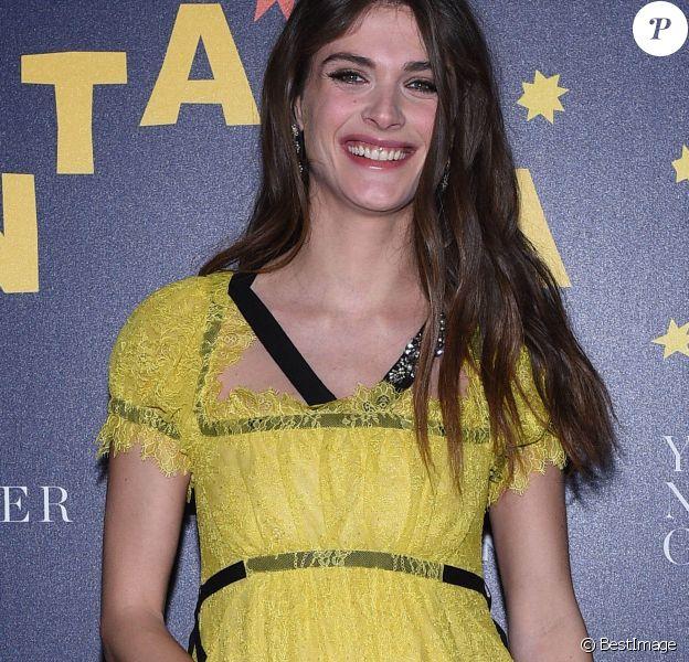 "Elisa Sednaoui enceinte - Soirée de la fondation d'E. Sednaoui (E. Sednaoui Foundation (ESF)) et de la marque ""Yoox Net-a-Porter"" à Milan, le 28 mars 2017."