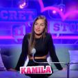 """Kamila lors de la quotidienne de """"Secret Story 11"""" (NT1), lundi 25 septembre 2017."""