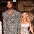 Khloe Kardashian et son compagnon Tristan Thompson quittent le restaurant TAO à Hollywood le 25 juin 2017.