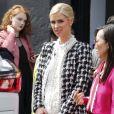 """Nicky Hilton enceinte au défilé """"Alice and Olivia"""" lors de la Fashion Week à New York, le 12 septembre 2017"""