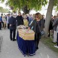 Obsèques de Gisèle Casadesus au temple protestant de Saint-Martin en Ré sur l'île de Ré le 28 septembre 2017. © Patrick Bernard-Thibault Moritz/Bestimage