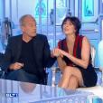 """Nolwenn Leroy et Laurent Baffie complices et amusés face à Michel Fugain dans """"Salut les terriens !"""" (C8), le 23 septembre 2017."""