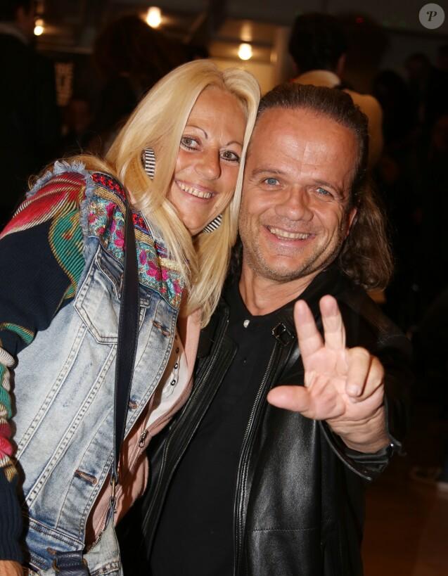 Exclusif - André Bouchet (Passe-Partout de Fort Boyard) et sa femme - People au concert de Jean-Francois Varlet à l'Européen à Paris le 2 octobre 2017. © Denis Guignebourg/BestImage