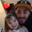 """""""Karim Benzema fête les 3 ans de sa fille Melia, sur Twitter, le 3 février 2017."""""""