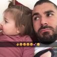 """""""Karim Benzema et sa fille Mélia (2 ans) - février 2016"""""""