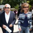 Dominique Strauss Kahn et sa compagne Myriam L'Aouffir aux Internationaux de France de tennis de Roland Garros le 30 mai 2015.