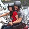 """Exclusif - Emma Roberts et Hayden Christensen sur le tournage de """"Little Italy"""" à Toronto au Canada le 30 mai 2017."""
