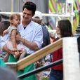 Exclusif - Hayden Christensen reçoit la visite de sa compagne Rachel Bilson et leur fille Briar Rose sur le tournage de ''Little Italy'' à Toronto, le 13 juin 2017.