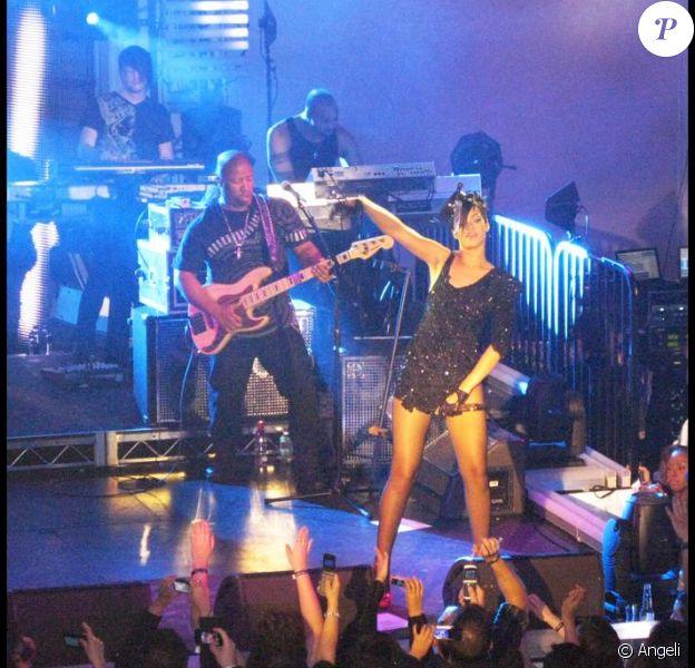 Rihanna à la soirée Blackberry/Timbaland organisée avant les Grammy