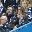 Anne-Claire Coudray et son compagnon Nicolas Vix - People au match de football France-Bielorussie au Stade de France à Saint-Denis le 11 octobre 2017. © Cyril Moreau/Bestimage