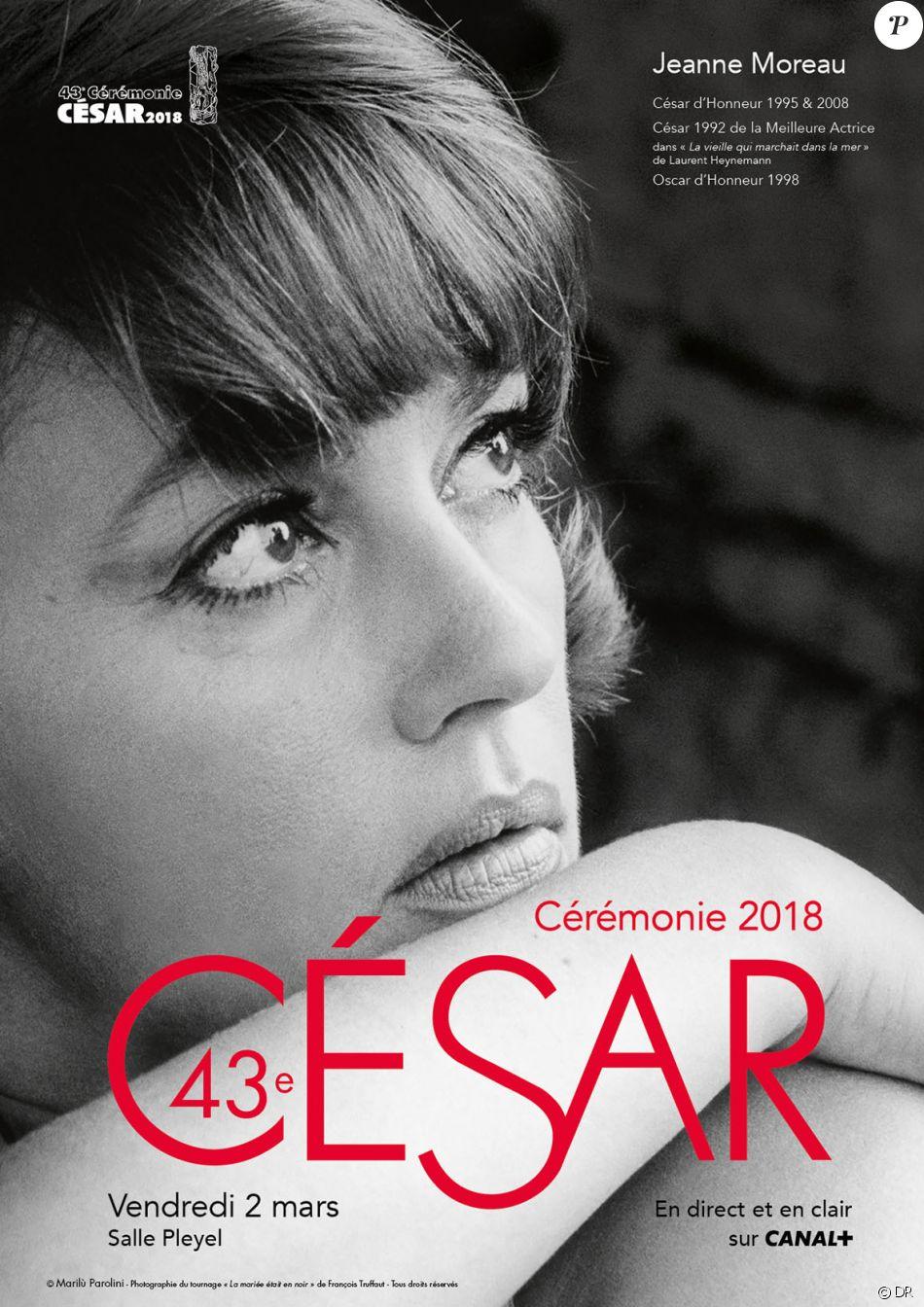 Affiche de la 43e cérémonie des César qui se tiendra le 2 mars 2018