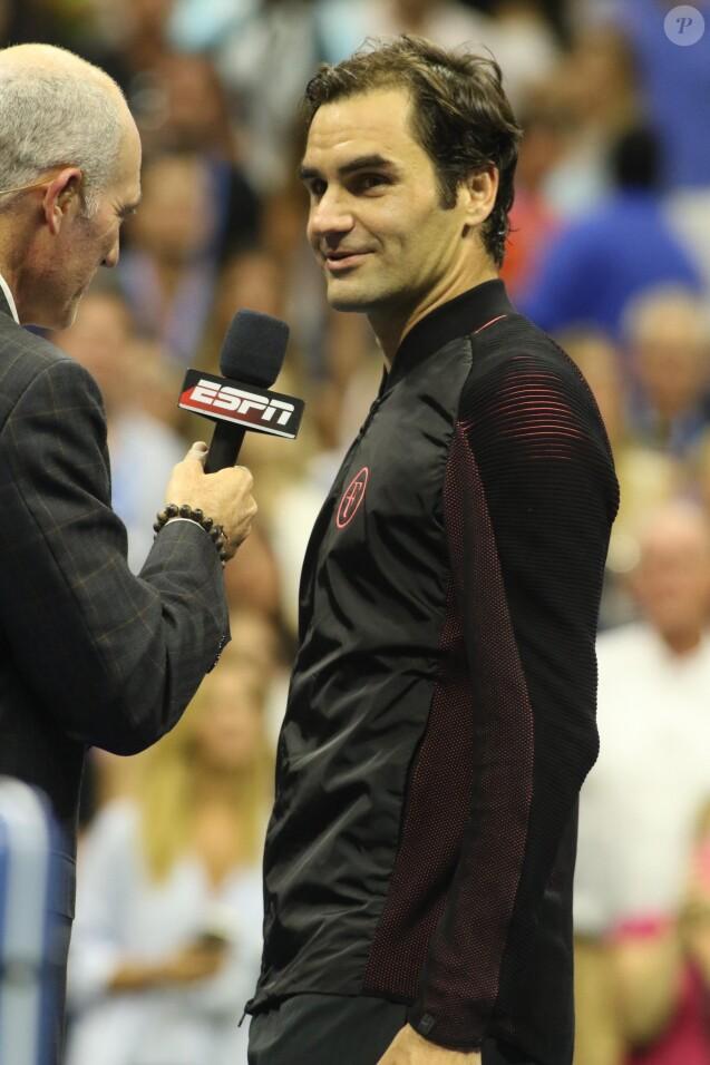 Roger Federer à l'US Open 2017 à l'USTA Billie Jean King National Tennis Center dans le quartier de Flushing à New York le 4 septembre 2017. © John Barrett/Globe Photos/Zuma Press/Bestimage