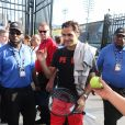 Roger Federer arrive à l'US Open 2017 à l'USTA Billie Jean King National Tennis Center dans le quartier de Flushing à New York, le 4 septembre 2017. © John Barrett/Globe Photos/Zuma Press/Bestimage