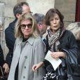 """""""Nicole Garcia lors des obsèques de Jean Rochefort en l'église Saint-Thomas d'Aquin à Paris, le 13 octobre 2017."""""""