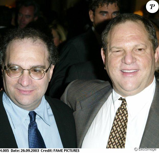 Bob et Harvey Weinstein au 29e Dîner des Champions à Century City le 26 septembre 2003