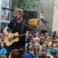 Ed Sheeran lors du Citi Concert Series sur la place du Rockefeller à New York, le 6 juillet 2017.