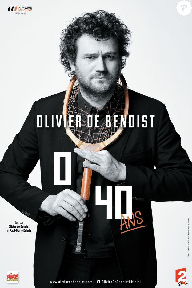 """Olivier de Benoist en tournée avec son one-man show """"0/40 ans"""" et du 9 au 11 février 2017 aux Folies Bergère."""