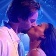 """Camille Lacourt et Hajiba Fahmy - """"Danse avec les stars 8"""" sur TF1. Le 28 octobre 2017."""