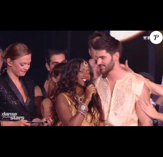 """Hapsatou Sy éliminée de """"Danse avec les stars 8"""" sur TF1. Le 28 octobre 2017."""